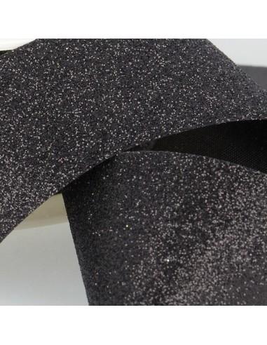 Ruban Glitter 20mm Noir