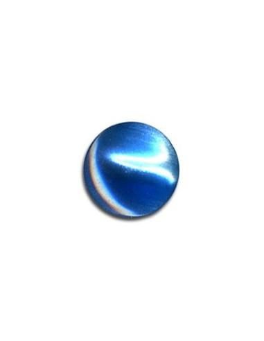 Bouton Plastique Rond 11mm Bleu