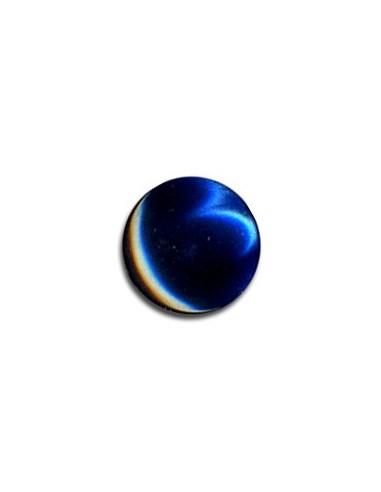 Bouton Plastique Rond 11mm Bleu marine