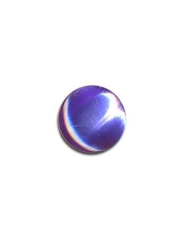 Bouton Plastique Rond 11mm Pervenche