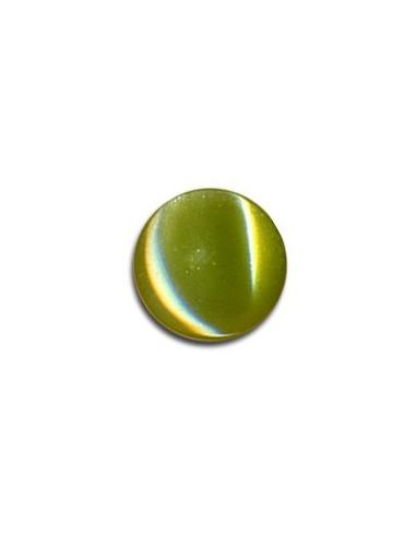Bouton Plastique Rond 11mm Olive