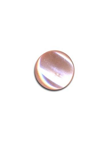 Bouton Plastique Rond 11mm Rose perle