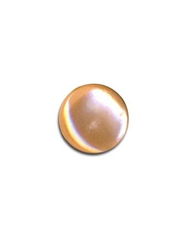 Bouton Plastique Rond 11mm Abricot