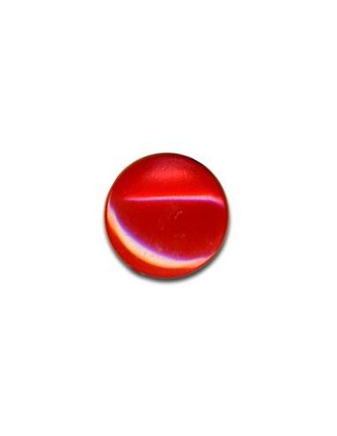 Bouton Plastique Rond 13mm Rouge