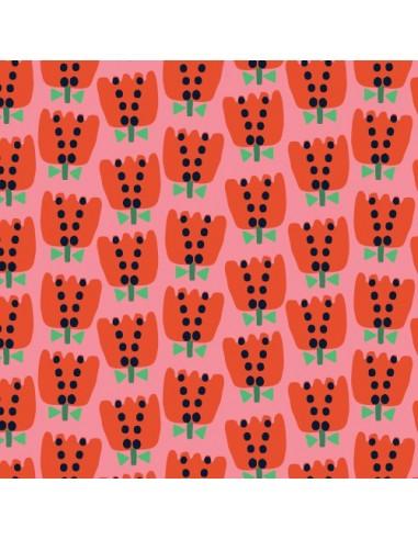 Tissu en coton Eden Pop tulipes