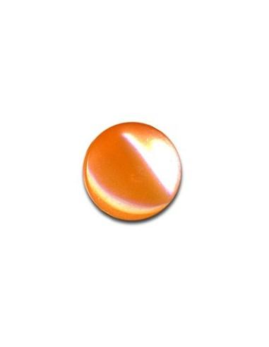 Bouton Plastique Rond 13mm Mandarine