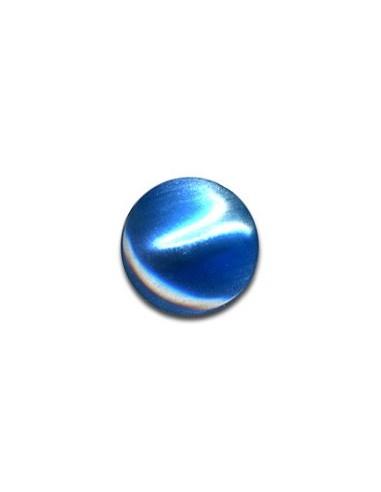 Bouton Plastique Rond 13mm Bleu