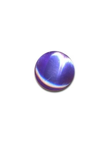 Bouton Plastique Rond 13mm Pervenche