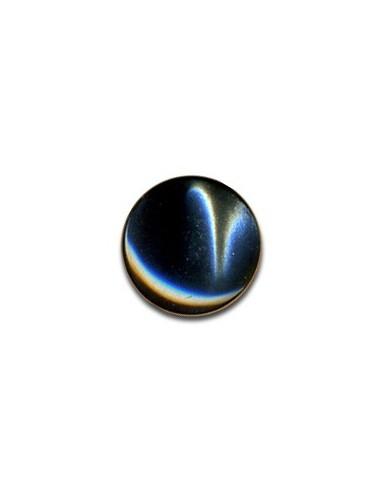 Bouton Plastique Rond 13mm Anthracite