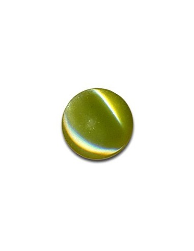 Bouton Plastique Rond 13mm Olive