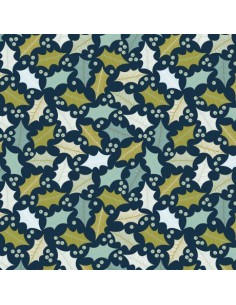 Tissu en coton collection Snow Forest Houx