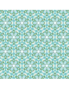 Tissu en coton collection Snow Forest Flocons