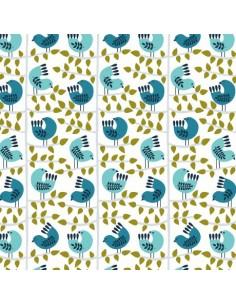 Tissu en coton collection Snow Forest Birds