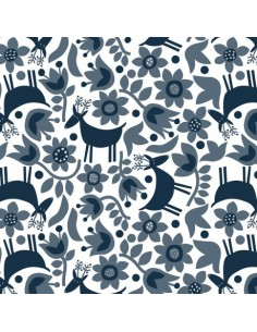 Tissu en coton collection Snow Forest Rennes