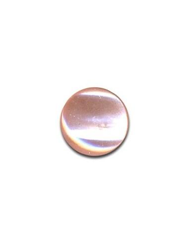Bouton Plastique Rond 13mm Rose perle