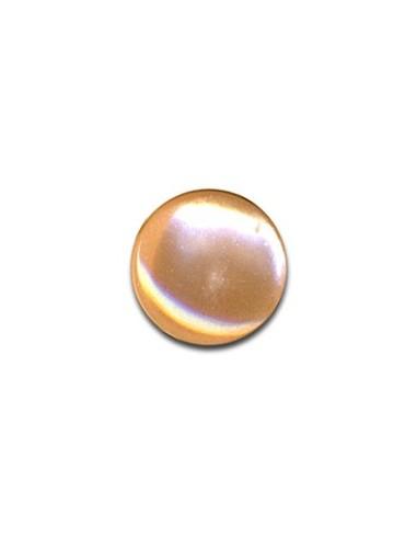Bouton Plastique Rond 13mm Abricot