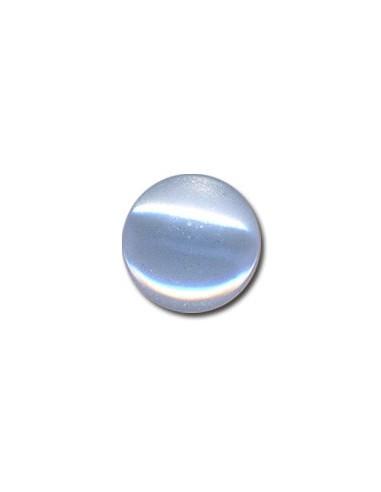 Bouton Plastique Rond 15mm Bleu layette