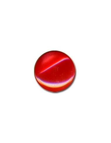 Bouton Plastique Rond 15mm Rouge