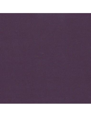 Tissu en coton léger Unis coloris Aubergine