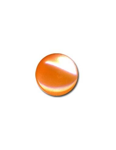Bouton Plastique Rond 15mm Mandarine