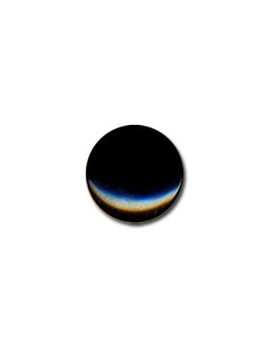 Bouton Plastique Rond 15mm Noir