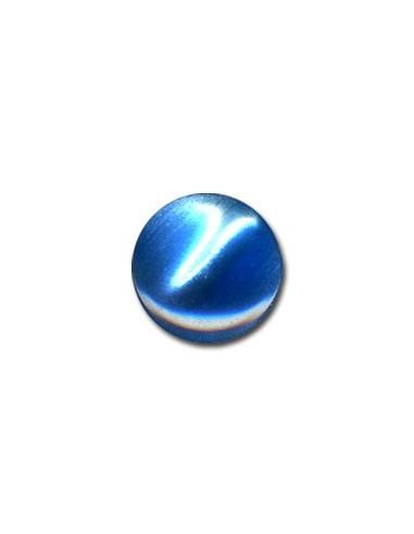 Bouton Plastique Rond 15mm Bleu