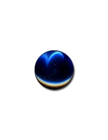 Bouton Plastique Rond 15mm Bleu marine