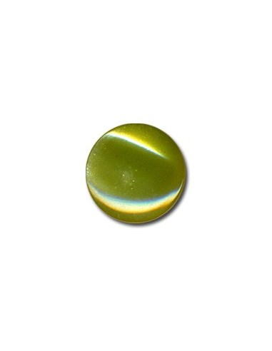Bouton Plastique Rond 15mm Olive