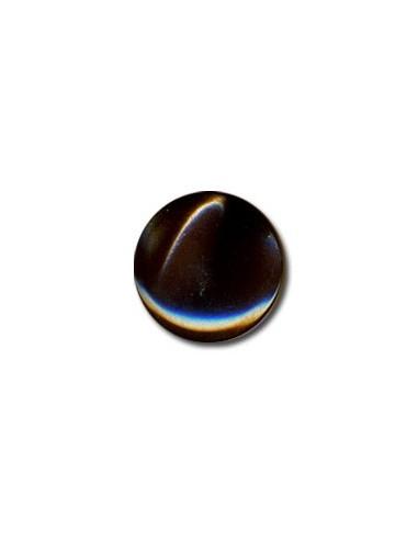 Bouton Plastique Rond 15mm Chocolat