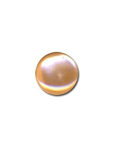 Bouton Plastique Rond 15mm Abricot