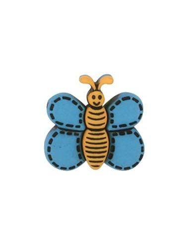 Bouton Papillon Bleu