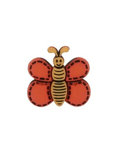 Bouton Papillon Orange