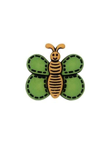 Bouton Papillon Vert