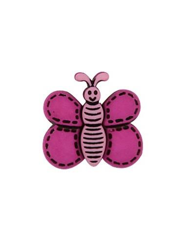 Bouton Papillon Rose