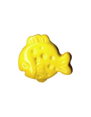 Bouton Plouf en forme de Poisson Jaune