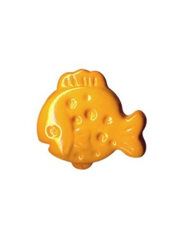 Bouton plouf en forme de Poisson Orange