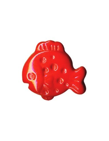 Bouton plouf en forme de Poisson Rouge