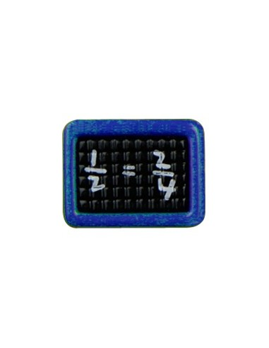 Bouton Ardoise 16mm Bleu