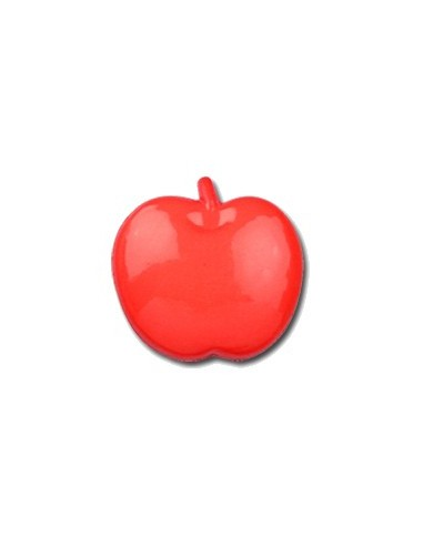 Bouton Pomme 15mm Rouge