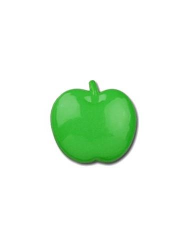 Bouton Pomme 15mm Vert