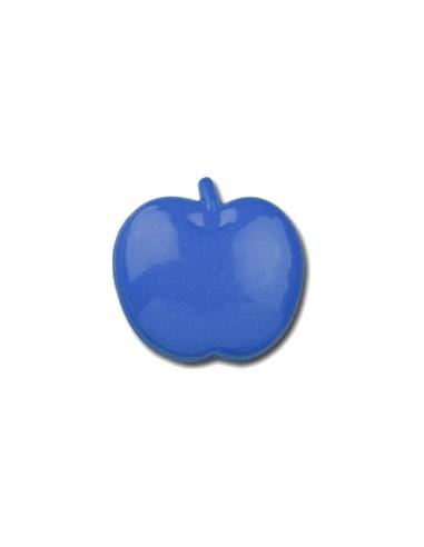 Bouton Pomme 15mm Bleu