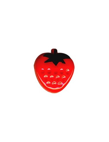 Bouton Fraise 13mm Rouge