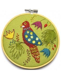 Kit créatif en feutrine - tambour appliqué perroquet