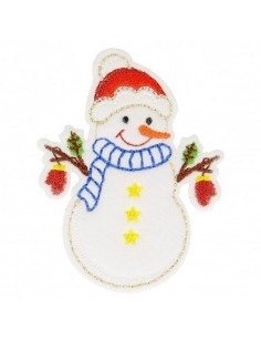 Thermo badge Noël kids - Le Bonhomme de neige