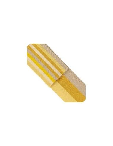 Sangle triple double face à rayures 40mm - jaune