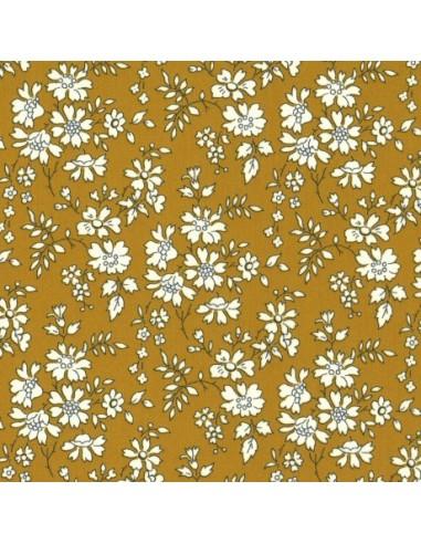 Tissu Liberty Tana Lawn Capel moutarde