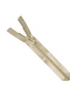 Fermeture à glissière satinée 50cm beige