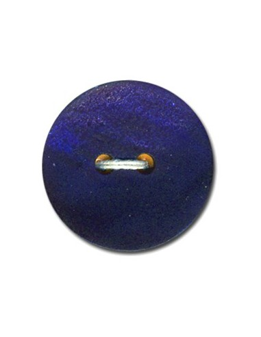 Bouton Rond en Nacre 15mm Bleu marine